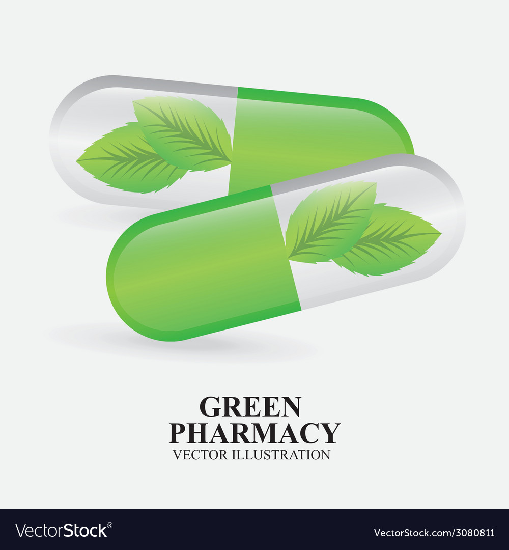 Green pharmacy design vector | Price: 1 Credit (USD $1)