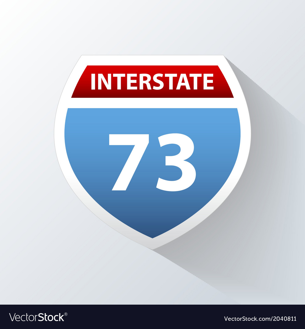Interstate icon vector | Price: 1 Credit (USD $1)