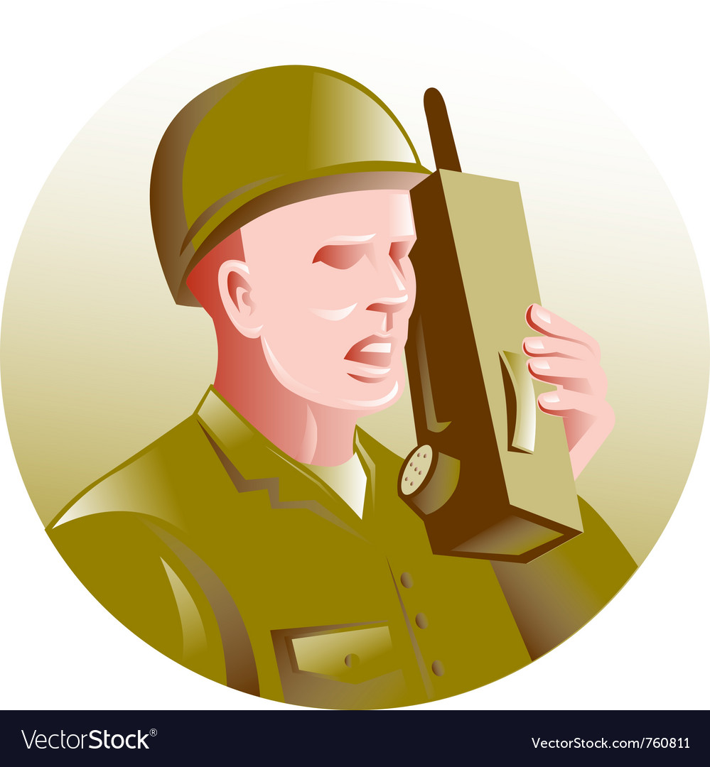 Military soldier vector | Price: 1 Credit (USD $1)