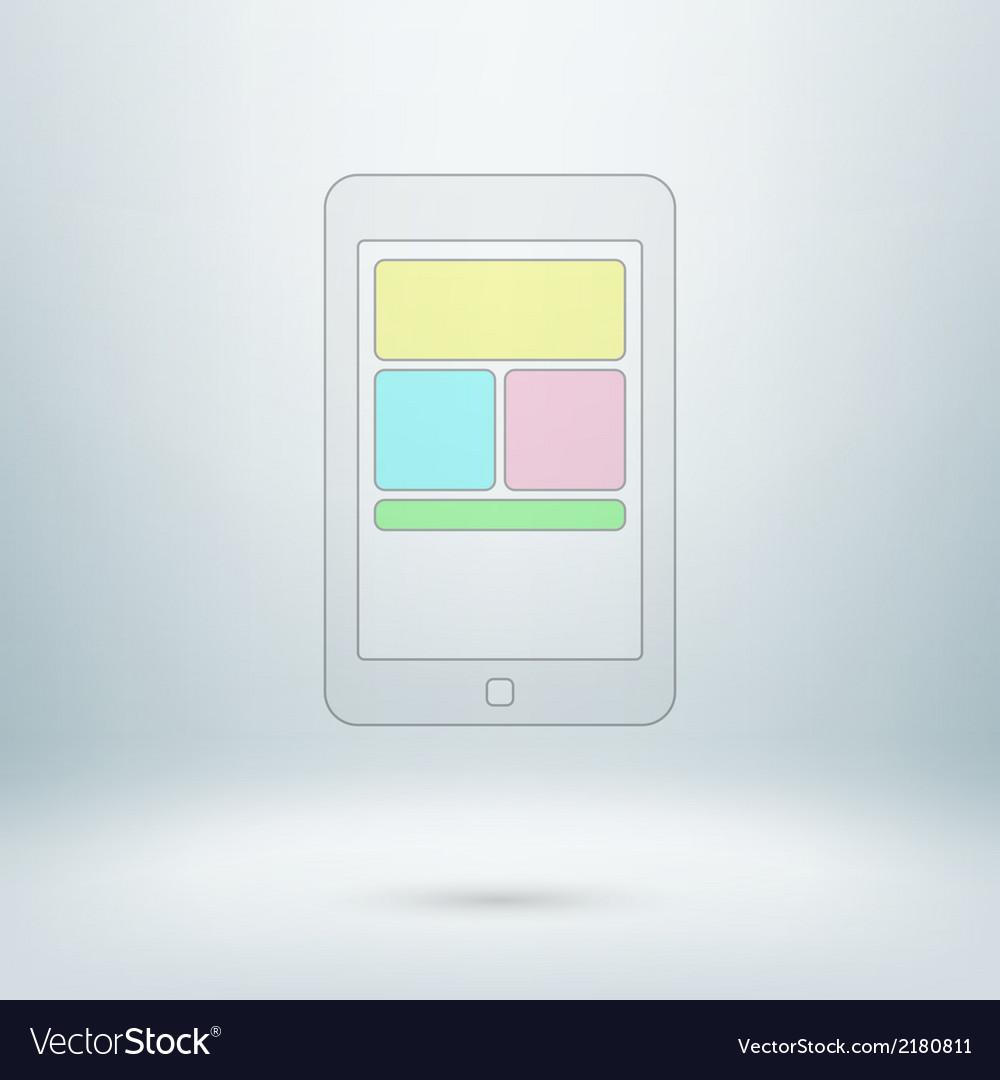 Pad icon in light studio room vector | Price: 1 Credit (USD $1)