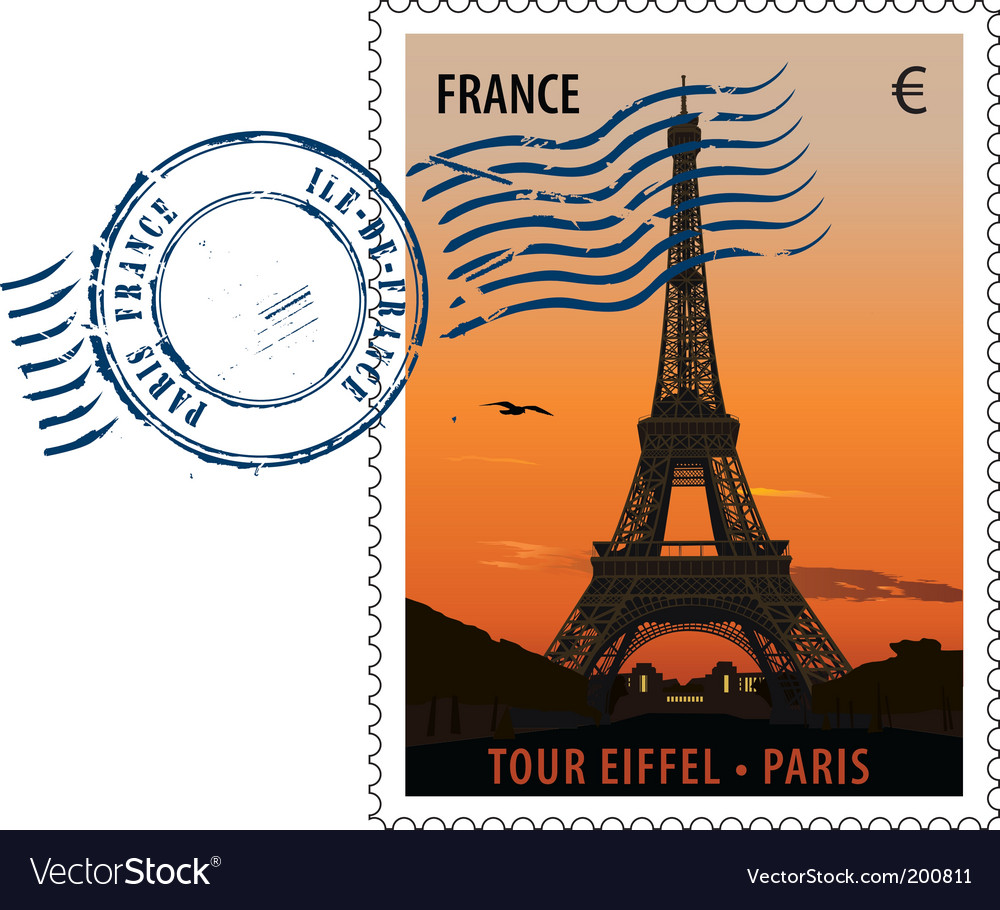 Postmark stamp france vector | Price: 1 Credit (USD $1)