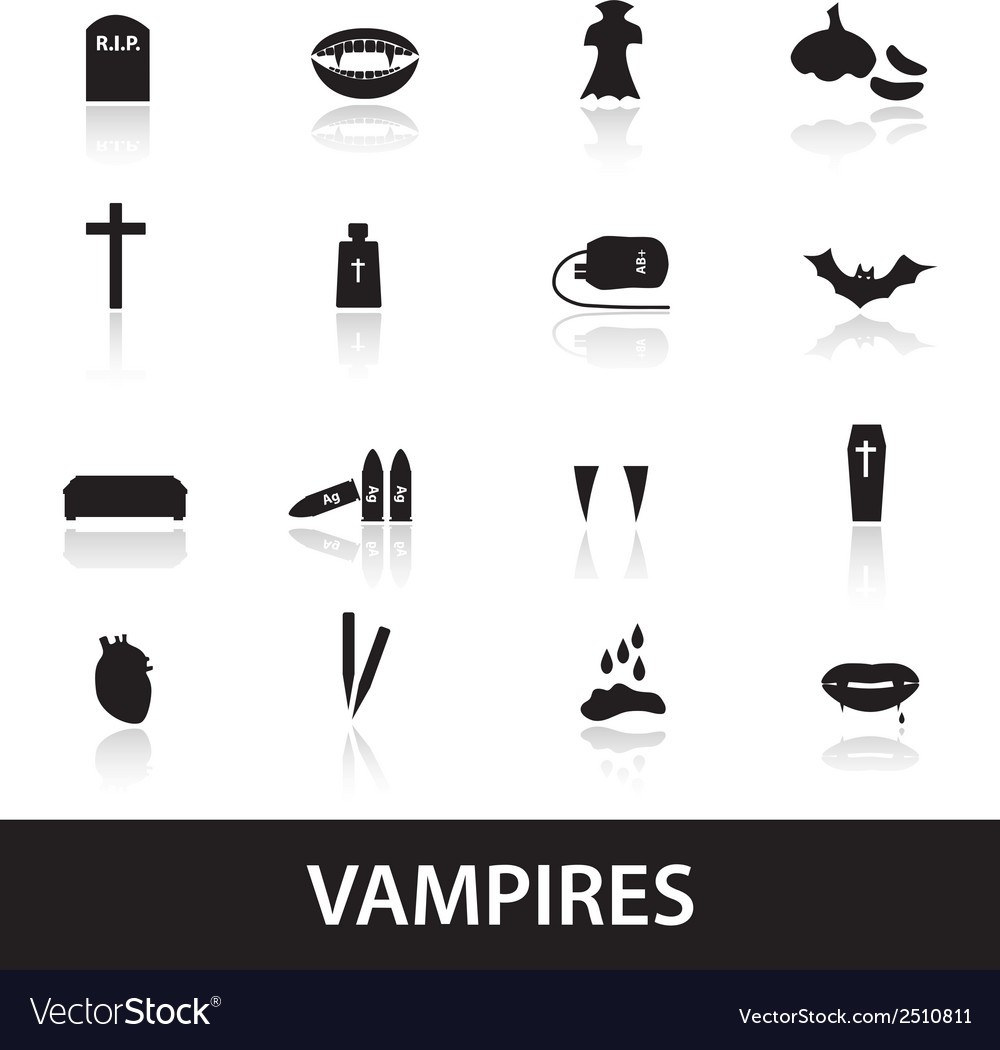 Vampire icons eps10 vector | Price: 1 Credit (USD $1)