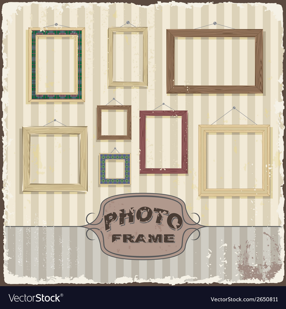 Vintage photo frame template vector | Price: 1 Credit (USD $1)