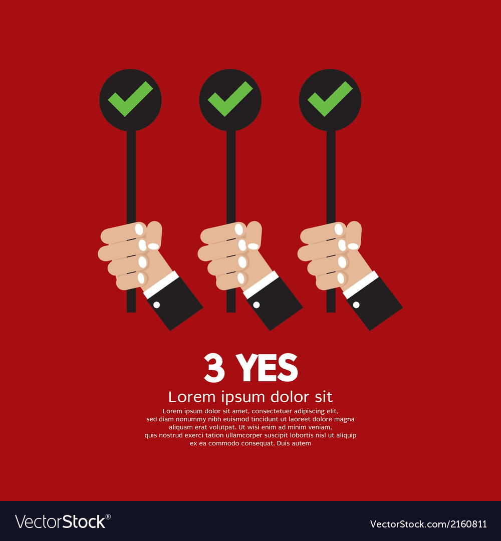 Yes three choices vector   Price: 1 Credit (USD $1)