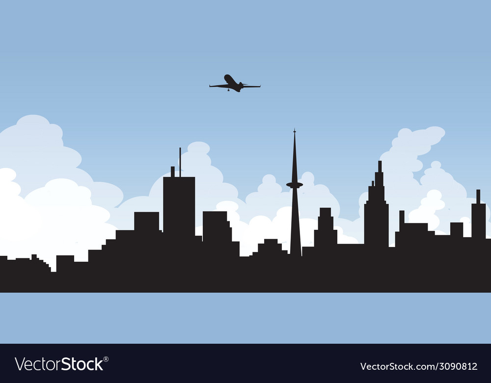 Cityscape skyline vector | Price: 1 Credit (USD $1)