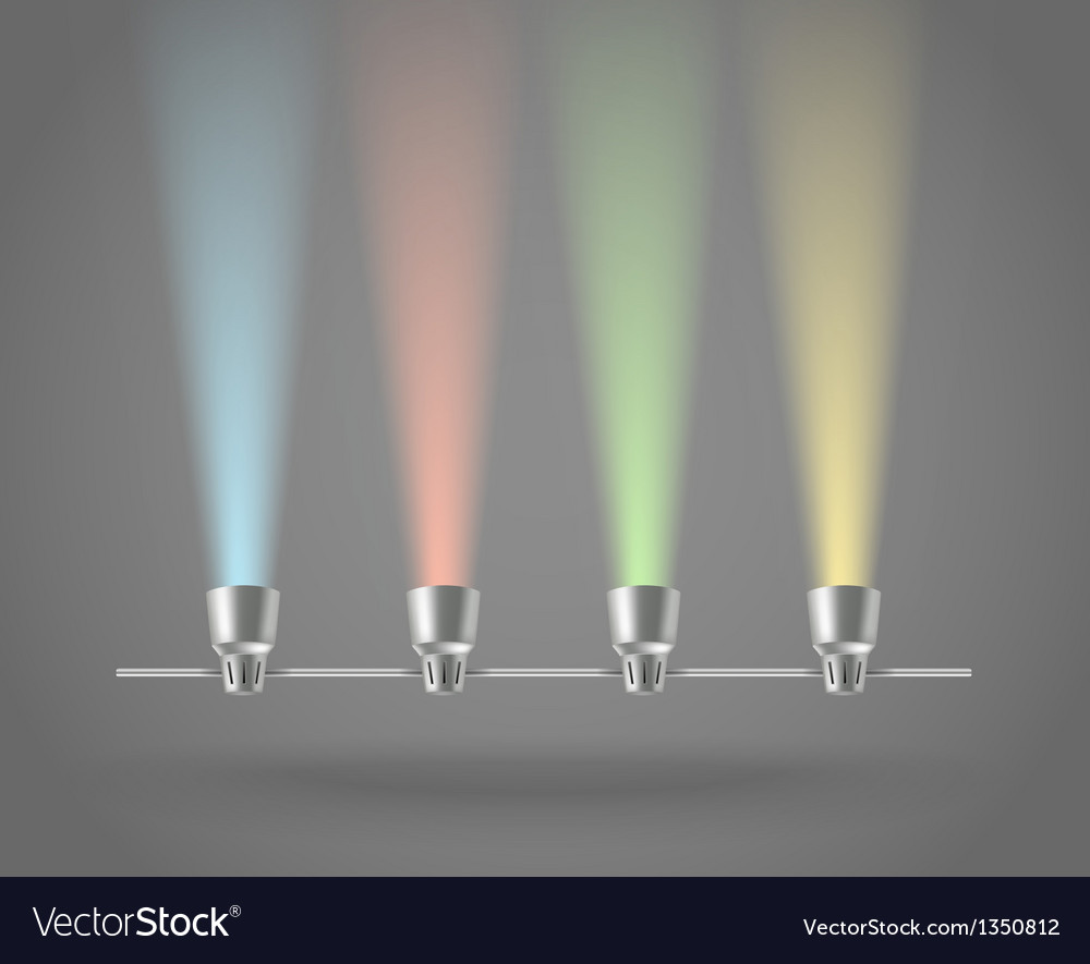 Color lamps vector | Price: 1 Credit (USD $1)