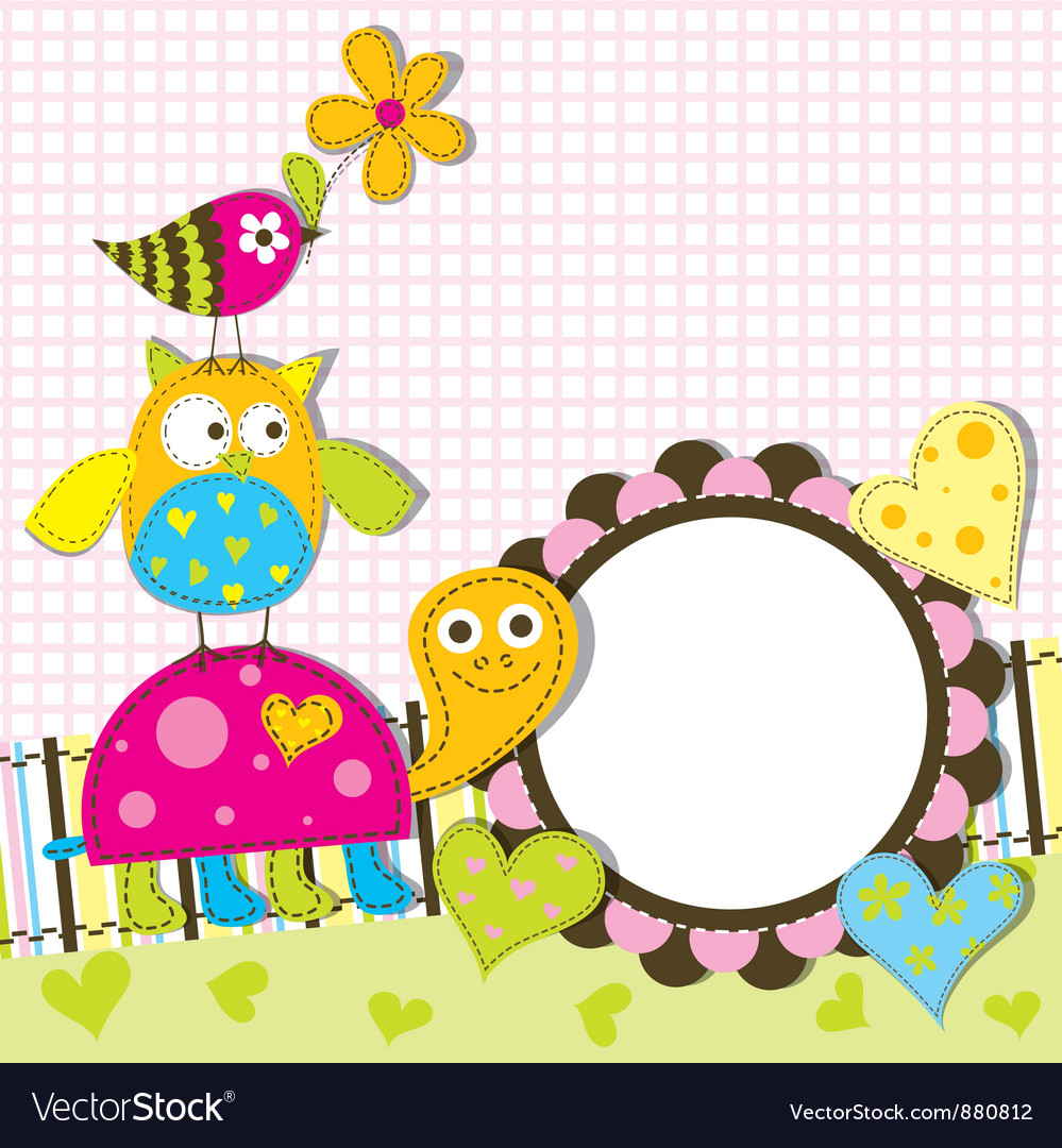 Decorative animals card vector | Price: 1 Credit (USD $1)