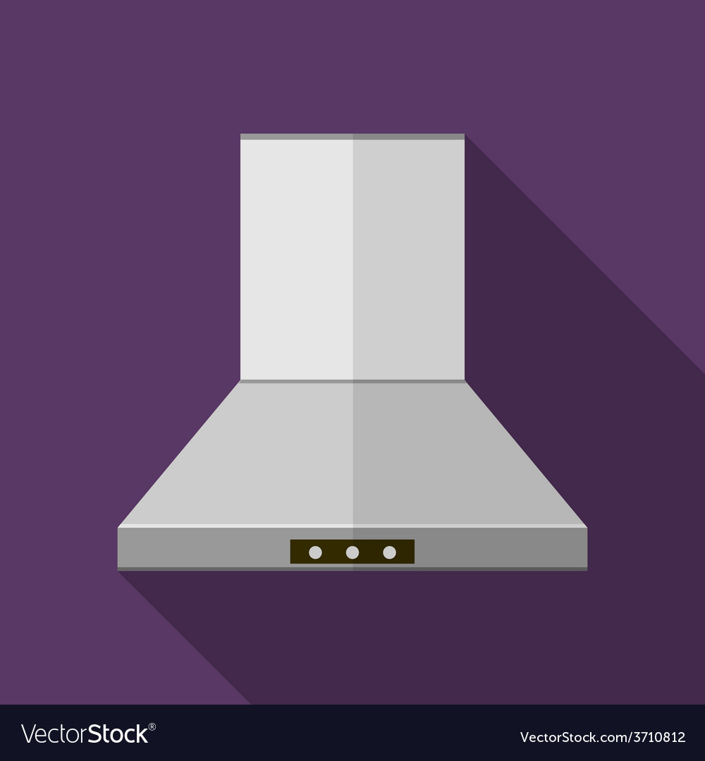 Flat icon for kitchen hood extractor vector | Price: 1 Credit (USD $1)