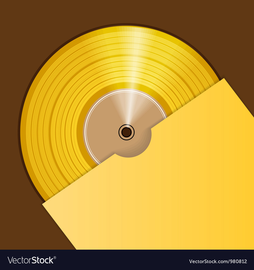 Golden cd prize vector | Price: 1 Credit (USD $1)