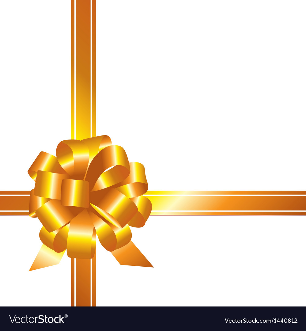 Golden ribbon and bow vector | Price: 1 Credit (USD $1)