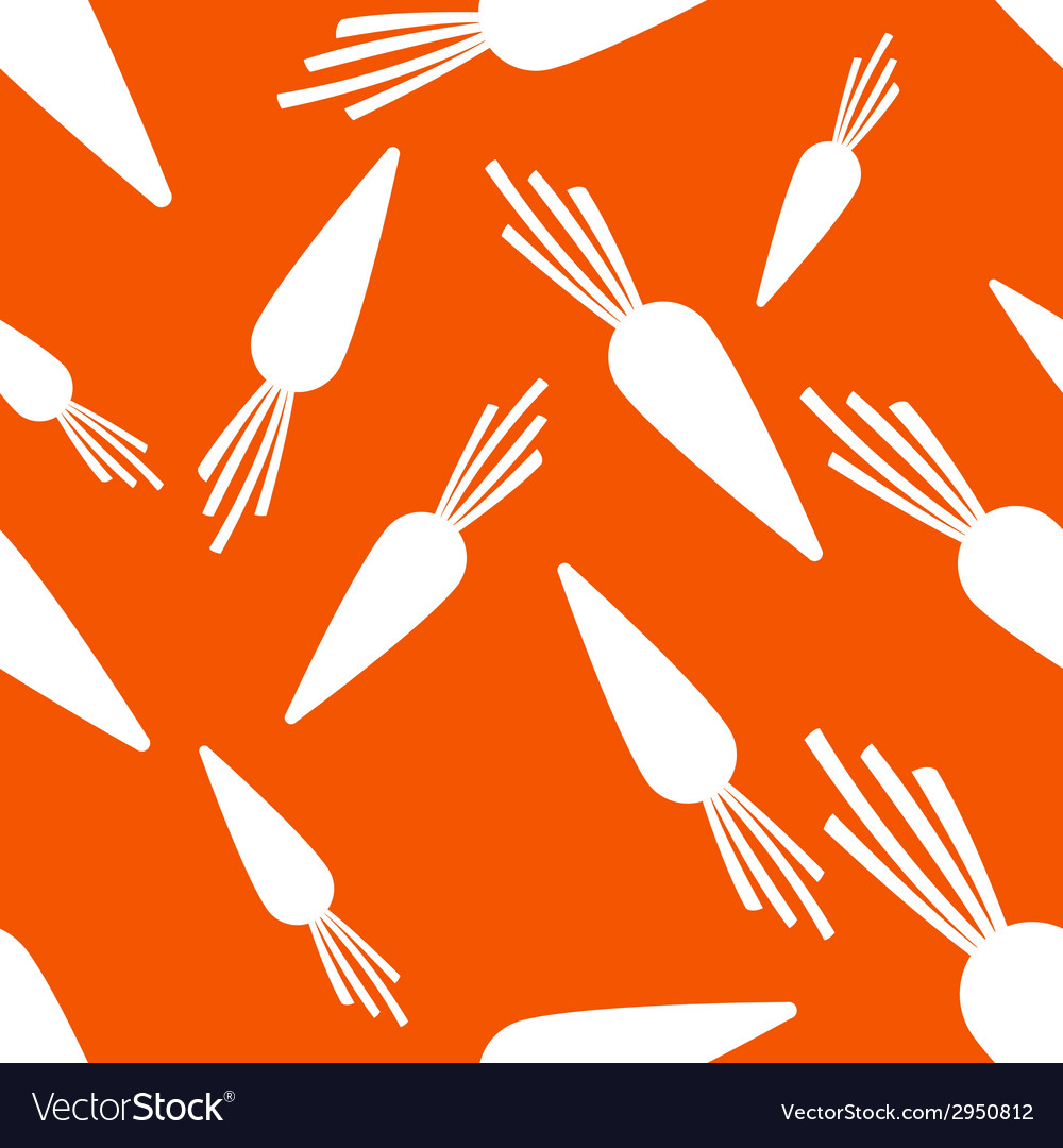 Pattern silhouette carrots vector | Price: 1 Credit (USD $1)
