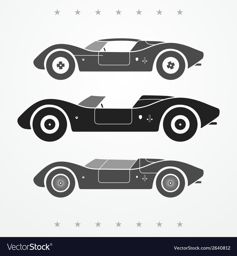 Race cars set vector | Price: 1 Credit (USD $1)