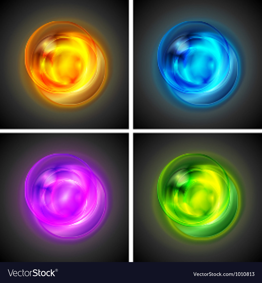 Bright glowing circles vector | Price: 1 Credit (USD $1)