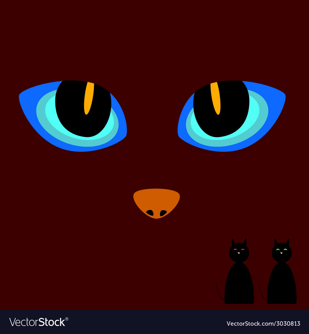 Cat eye on a dark background vector | Price: 1 Credit (USD $1)