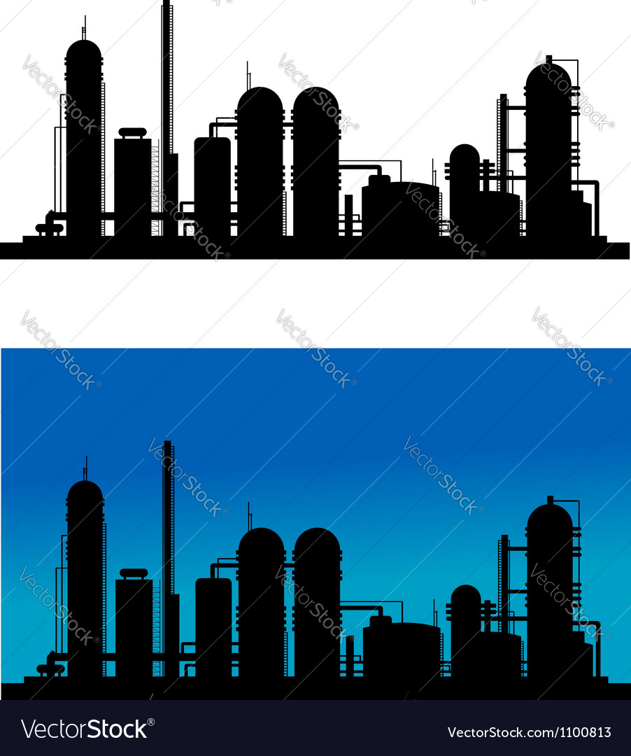 Chemical or refinery plant vector | Price: 1 Credit (USD $1)