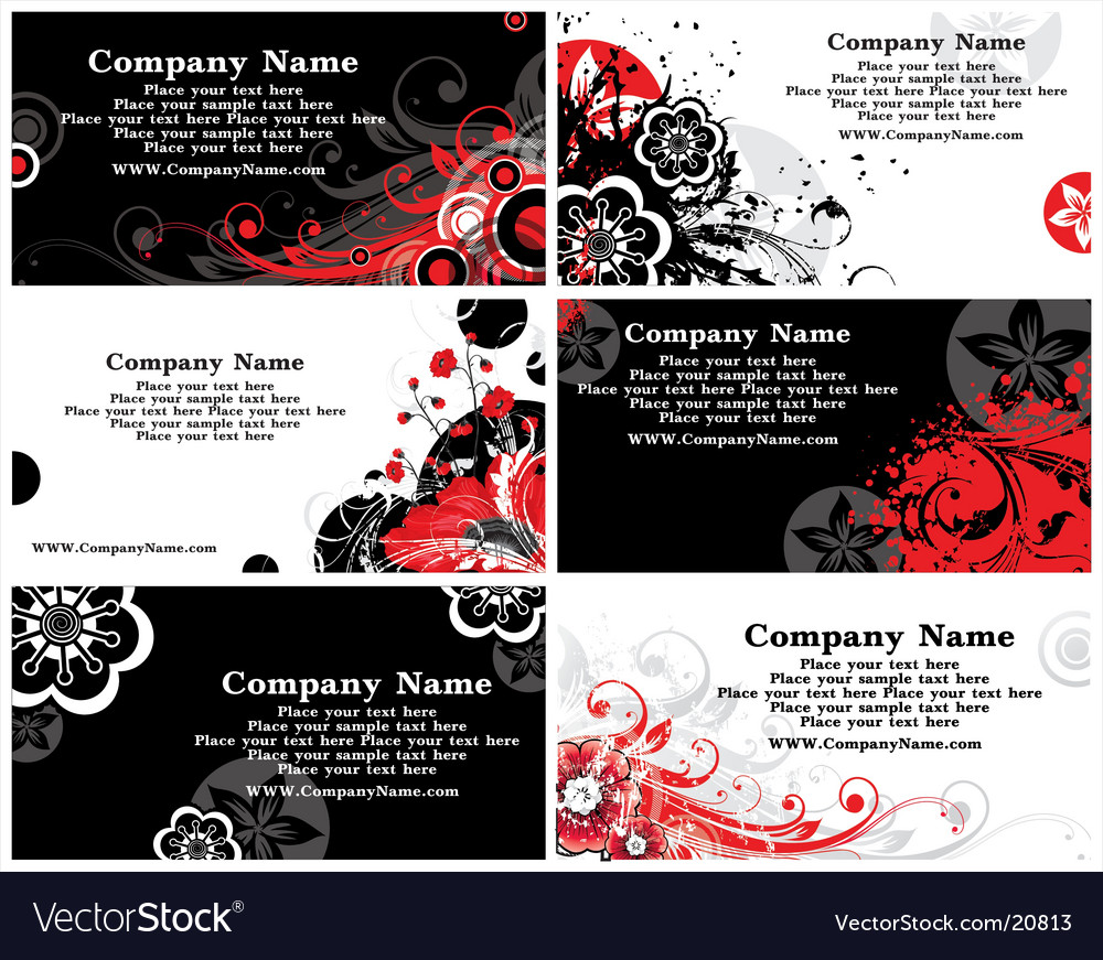Collection of horizontal business cards vector | Price: 3 Credit (USD $3)