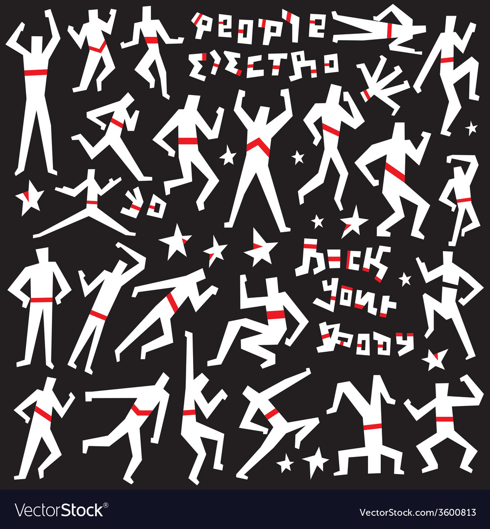Dancing people - doodles set vector | Price: 1 Credit (USD $1)