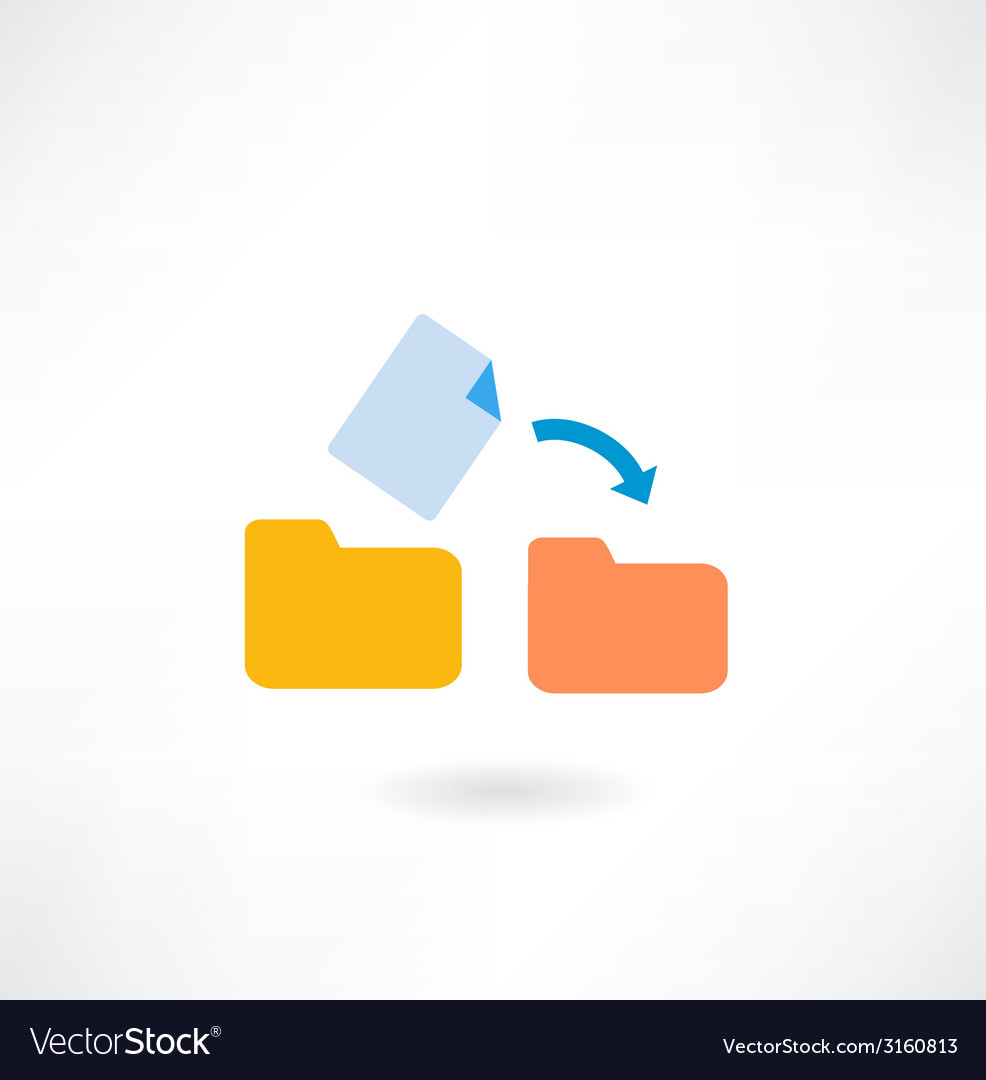 Document moves to a folder icon vector | Price: 1 Credit (USD $1)