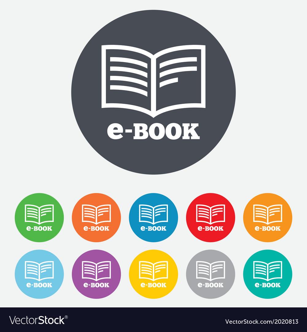 E-book sign icon electronic book symbol vector   Price: 1 Credit (USD $1)