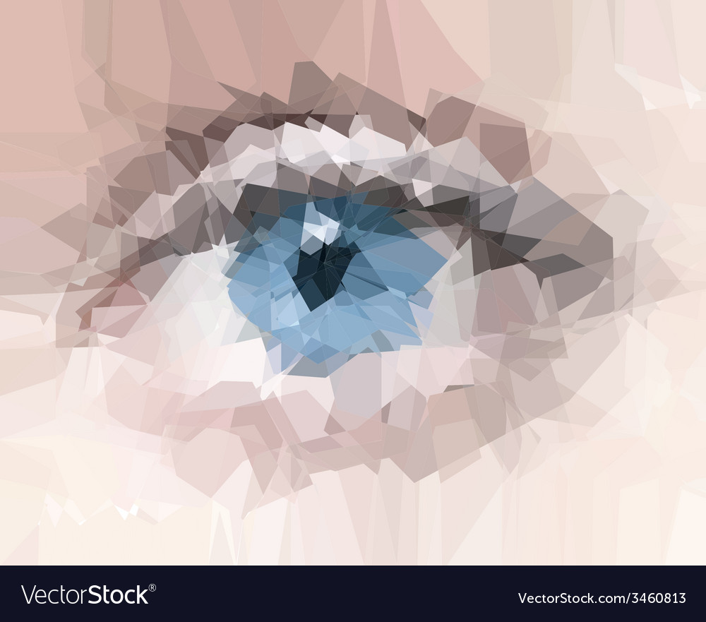 Female eye created from polygons vector | Price: 1 Credit (USD $1)
