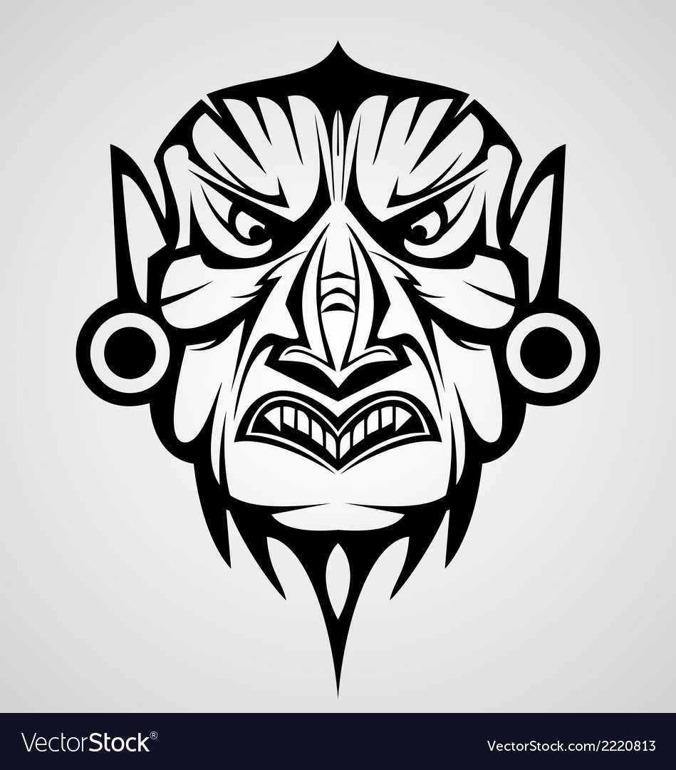 Mask tribal vector | Price: 1 Credit (USD $1)