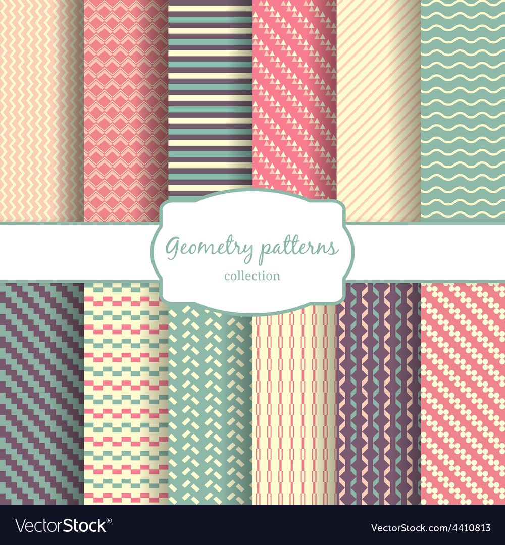 Seamless geometric lines and rhombus color vector | Price: 1 Credit (USD $1)