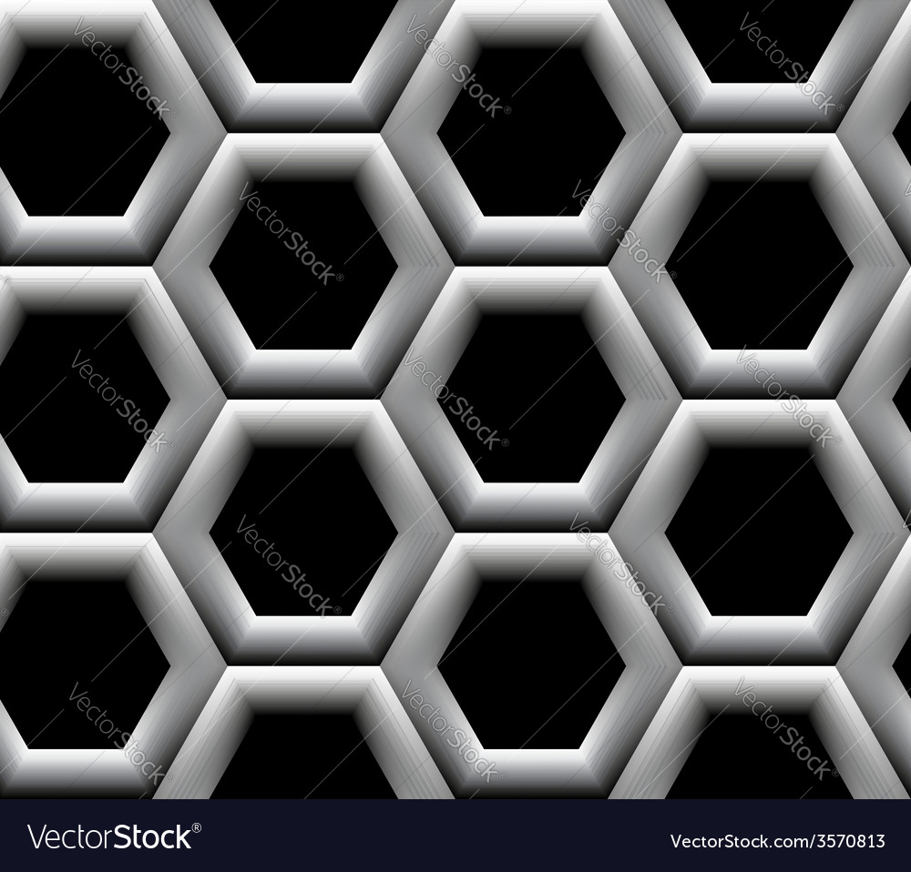 Seamless pattern with hexagonal cells vector | Price: 1 Credit (USD $1)