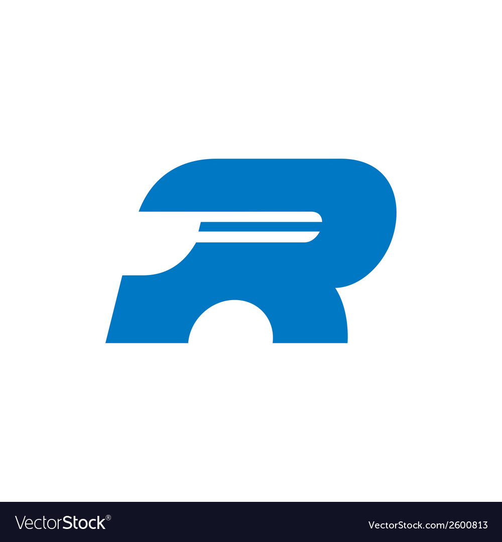 Sign the letter r vector | Price: 1 Credit (USD $1)