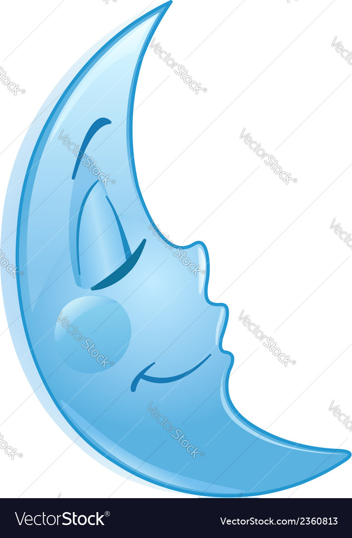 Sleeping moon vector | Price: 1 Credit (USD $1)