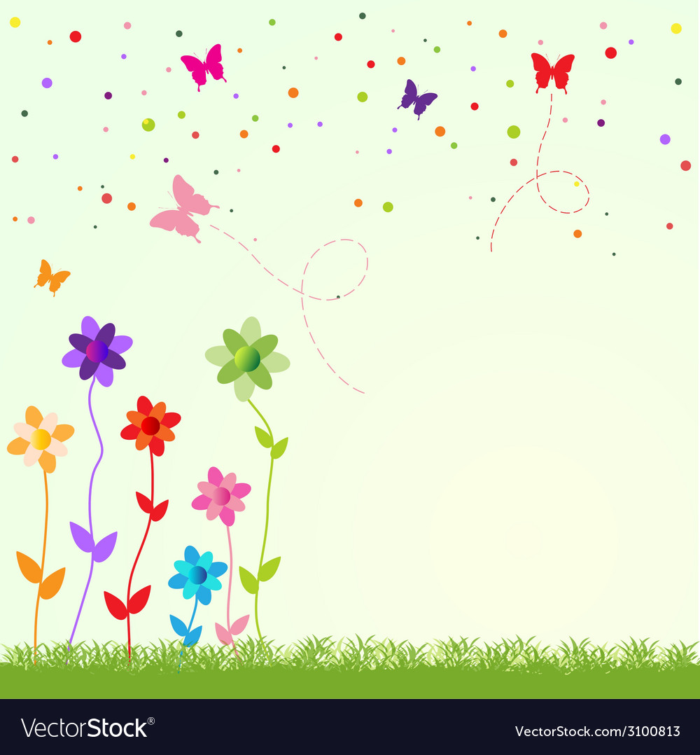 Spring greeting card vector | Price: 1 Credit (USD $1)
