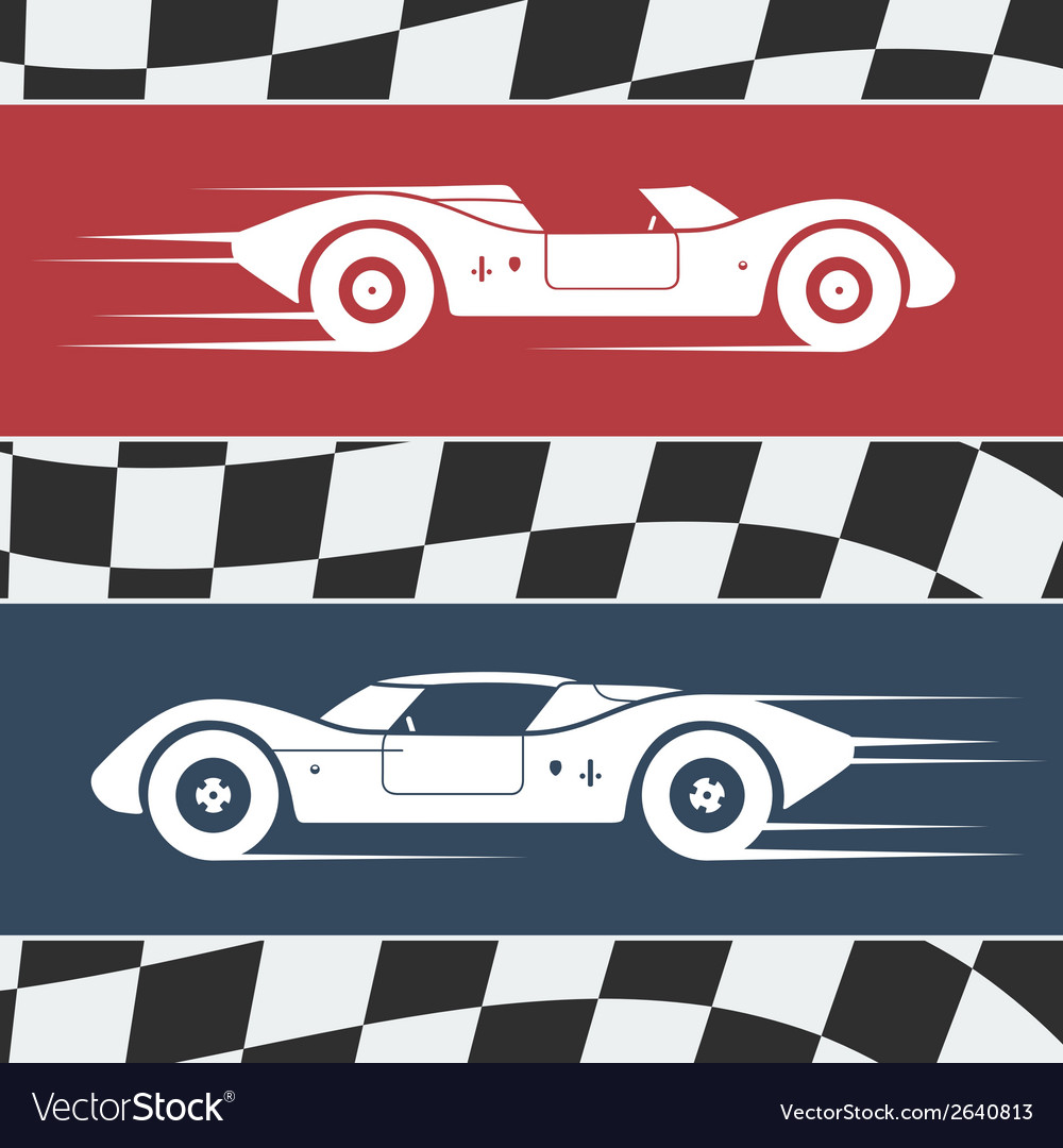 Two race cars vector | Price: 1 Credit (USD $1)