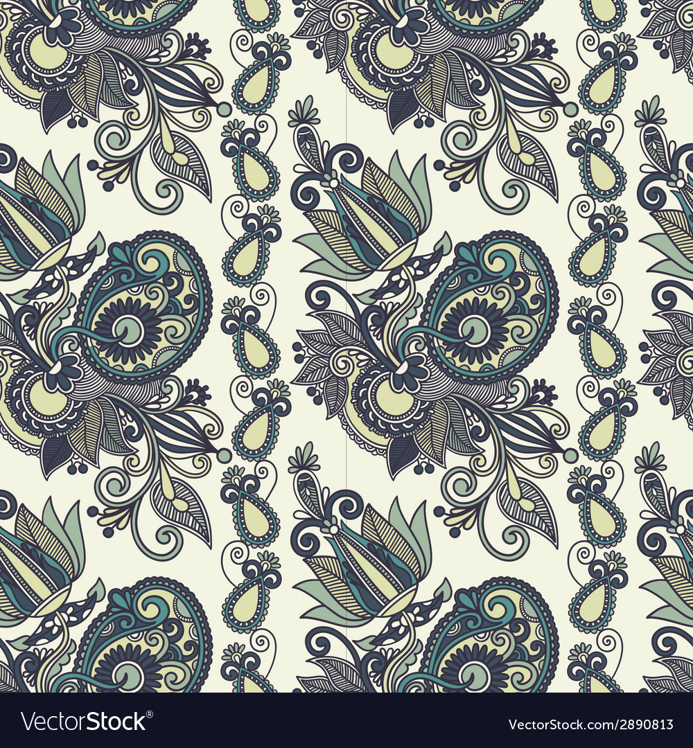 Vintage floral seamless paisley pattern vector | Price: 1 Credit (USD $1)