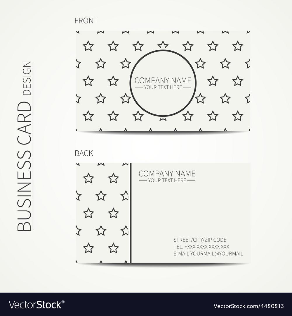 Vintage simple geometric monochrome business card vector | Price: 1 Credit (USD $1)