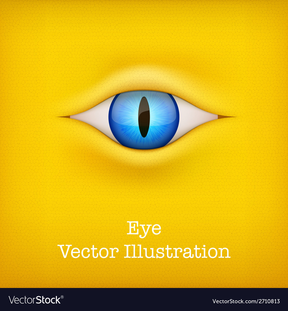 Yellow background with animal eye vector | Price: 1 Credit (USD $1)