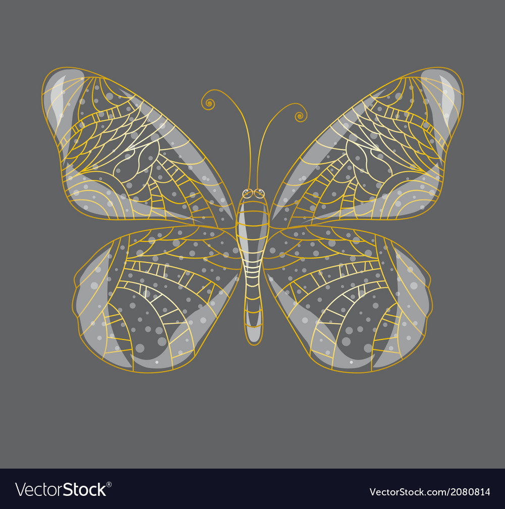 Beautiful abstract butterfly vector | Price: 1 Credit (USD $1)