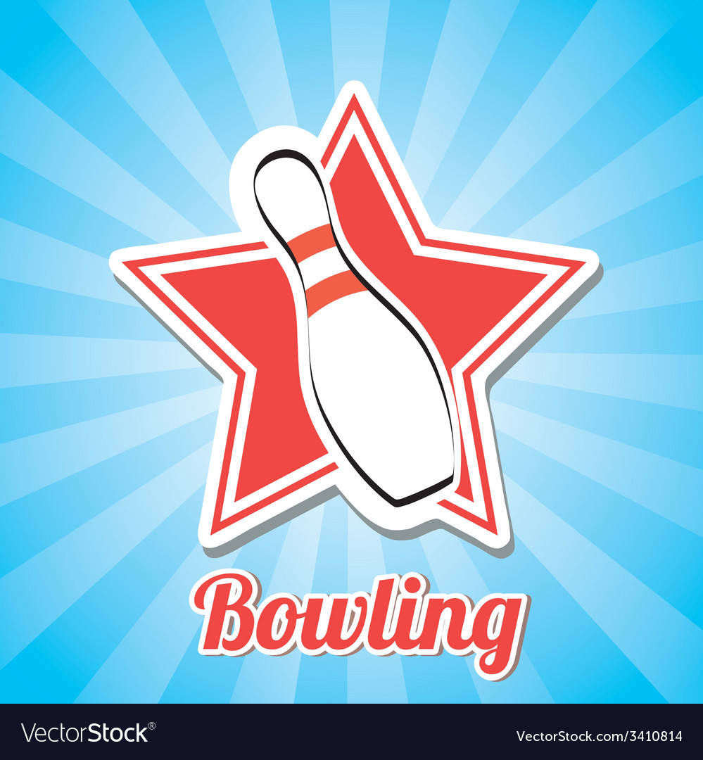 Bowling design vector | Price: 1 Credit (USD $1)