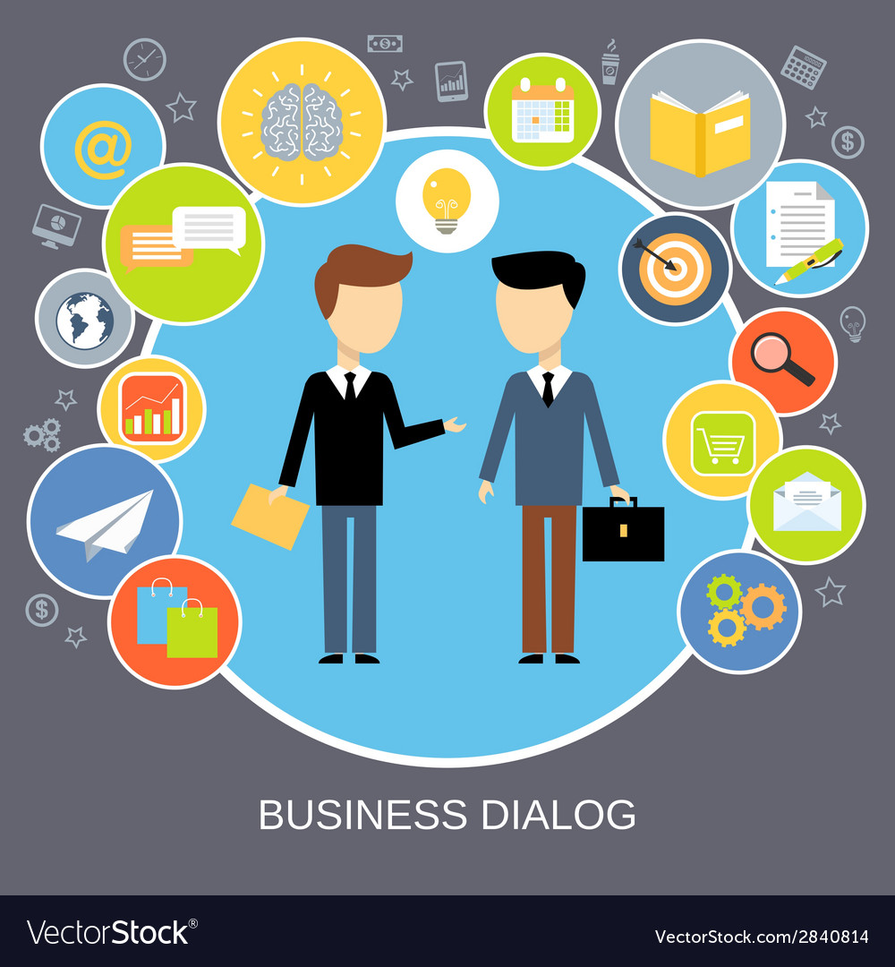 Business dialog concept vector | Price: 1 Credit (USD $1)
