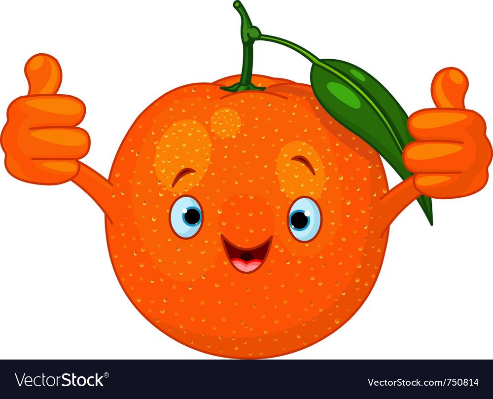 Cartoon orange character vector | Price: 1 Credit (USD $1)