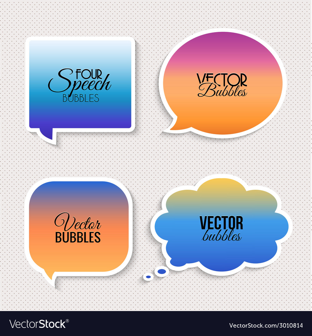 Colorful speech bubbles with text vector | Price: 1 Credit (USD $1)