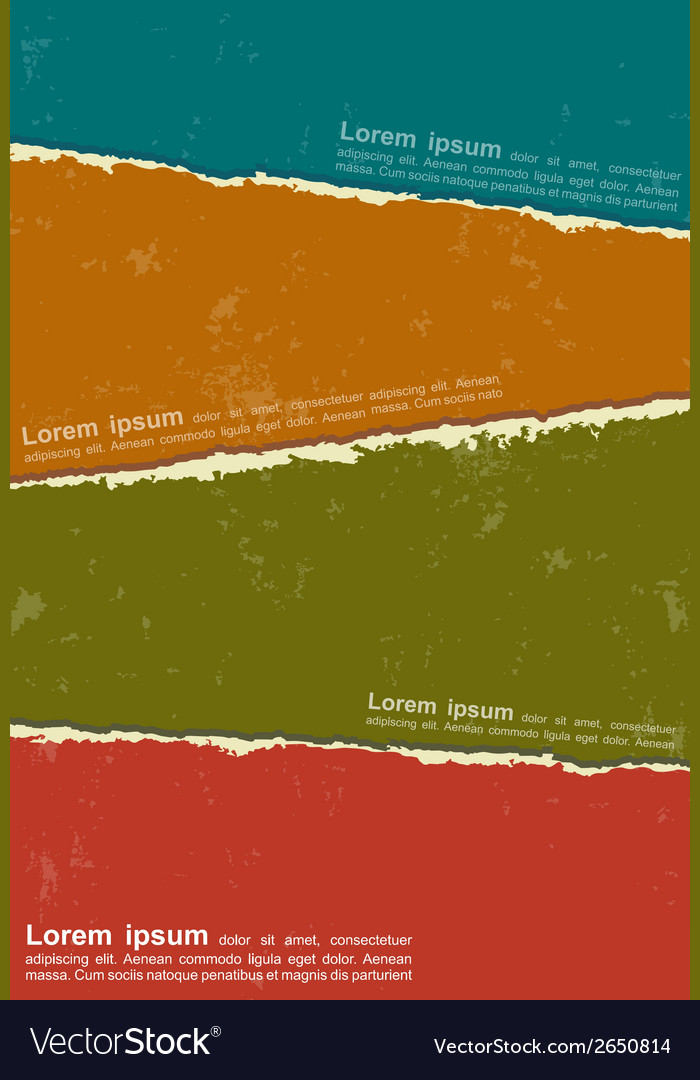 Design colorful torn papers vector | Price: 1 Credit (USD $1)