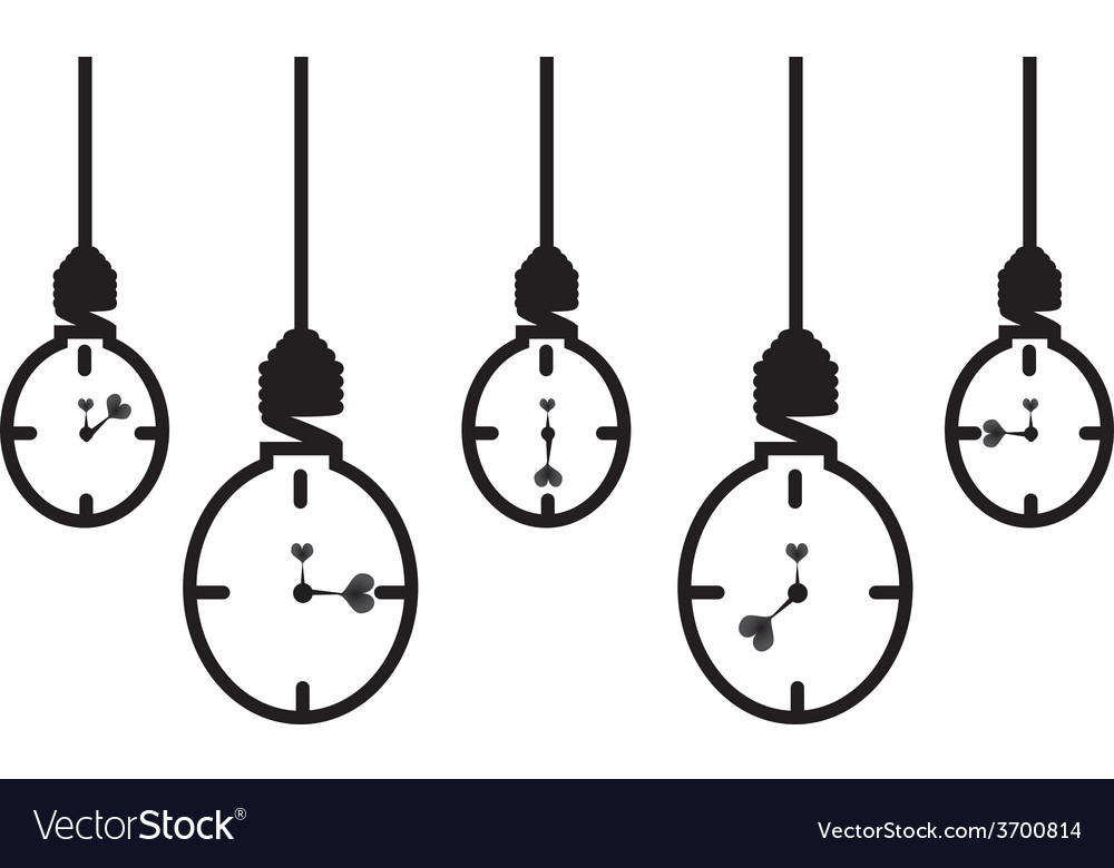 Energy saving bulb concept of clock vector | Price: 1 Credit (USD $1)