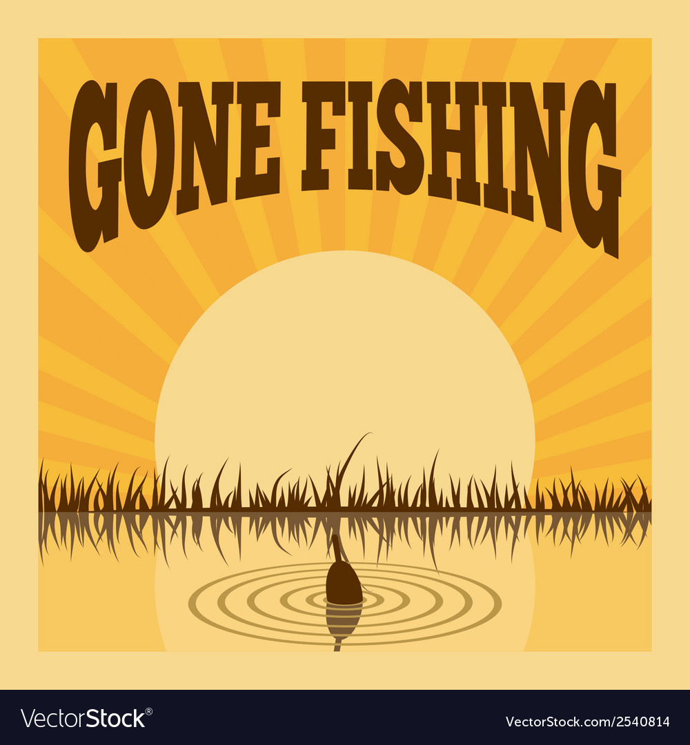 Fishing poster vector | Price: 1 Credit (USD $1)