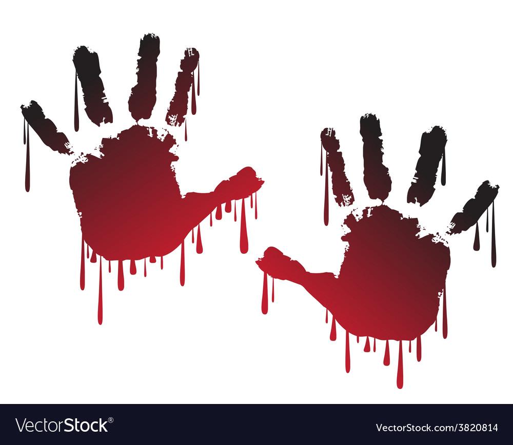 Handprint vector | Price: 1 Credit (USD $1)