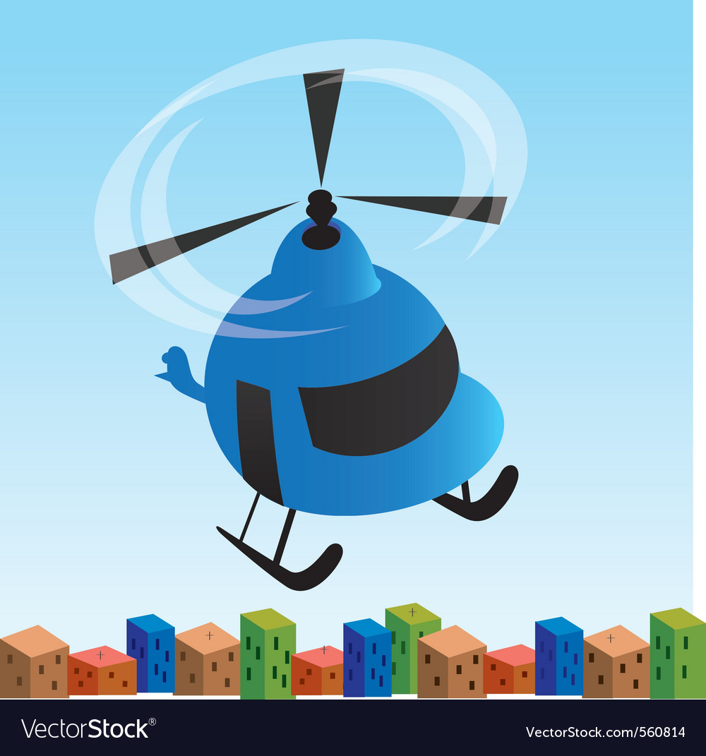 Helicopter cartoon vector | Price: 1 Credit (USD $1)