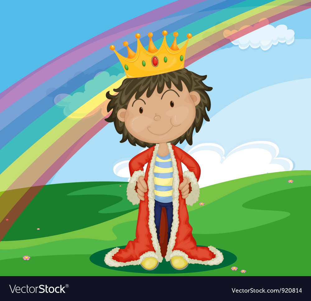 King in field vector | Price: 3 Credit (USD $3)