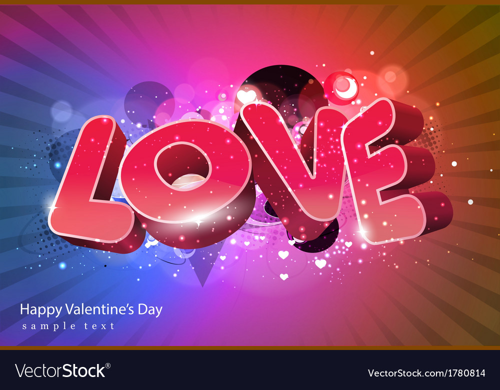Love valentine day vector | Price: 1 Credit (USD $1)