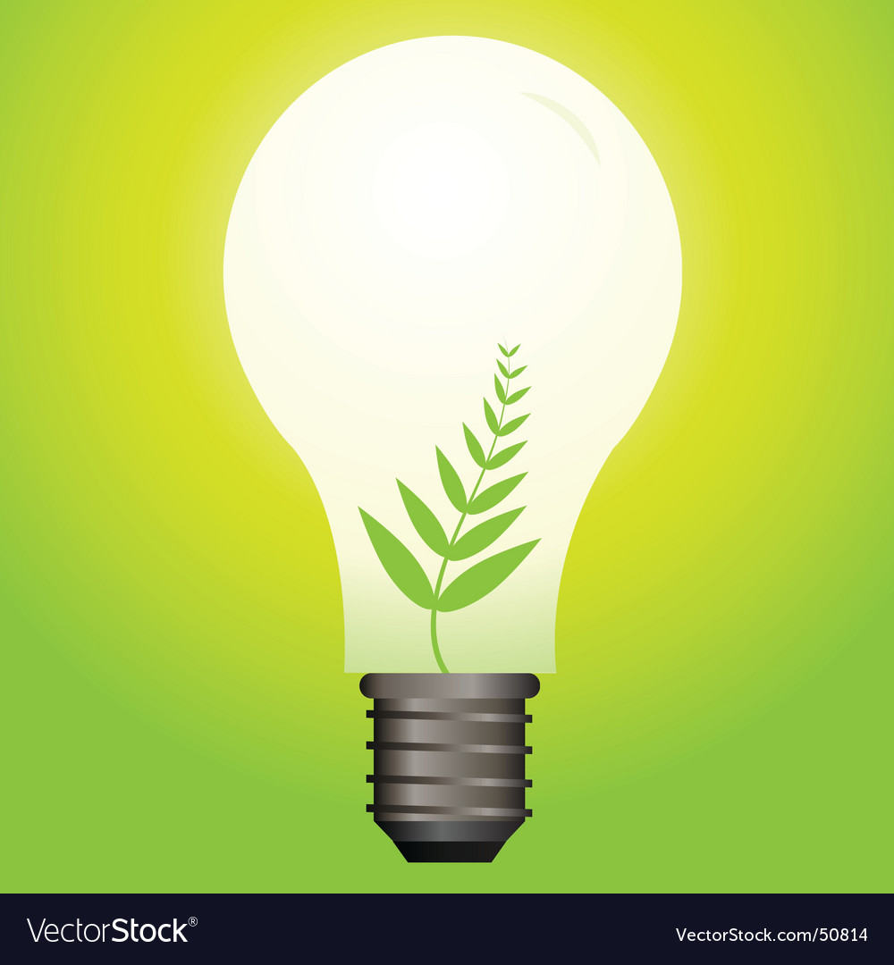 Nature bulb vector | Price: 1 Credit (USD $1)