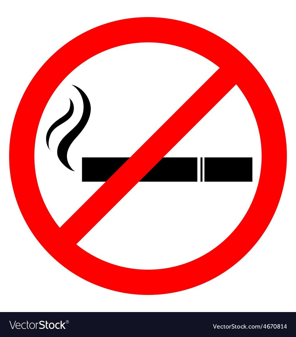 Prohibiting smoking sign vector   Price: 1 Credit (USD $1)