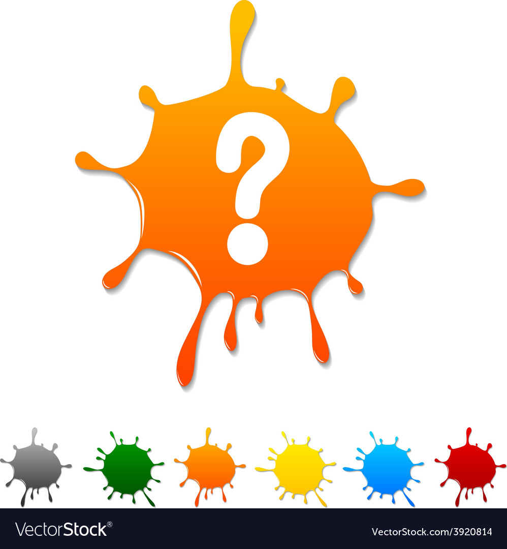Question blot vector | Price: 1 Credit (USD $1)