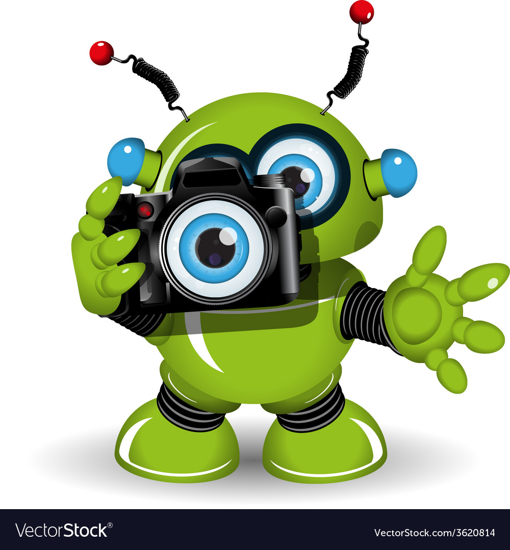 Robot with camera vector | Price: 3 Credit (USD $3)